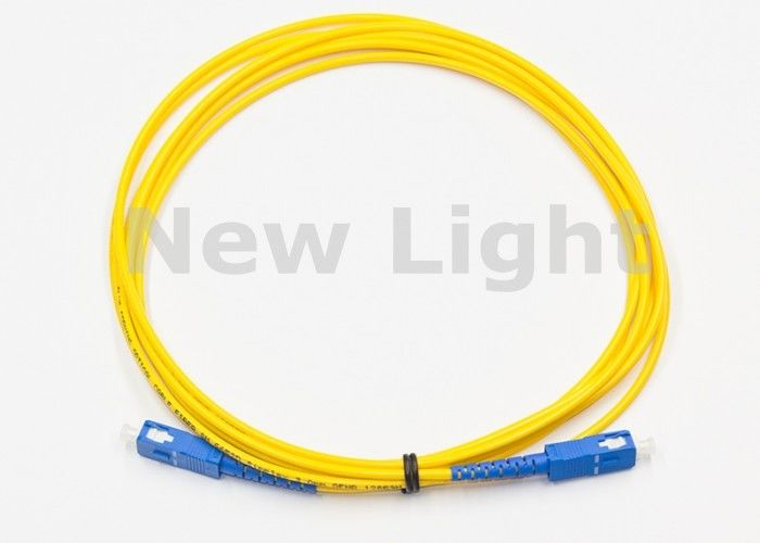 High Return Loss Optical Fiber Patch Cord / SC TO SC Single Mode Fiber Patch Cable