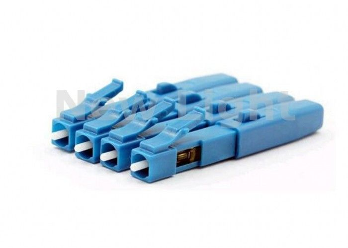 Blue Fiber Optic Connectors Embedded Type FTTH Single Mode Fiber LC Connector