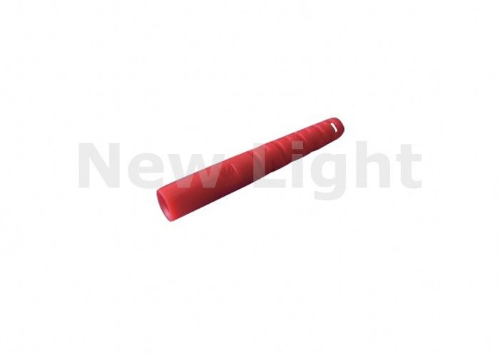 Red Color Fiber Optic Parts ST Tail Set 2.0 / 3.0 Mm Diameter With High Return Loss
