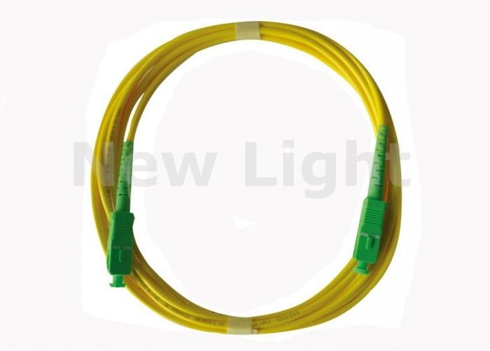 Easy Instalation SC TO SC Fiber Patch Cable Single Model 3.0mm Diameter 1 Meter Length