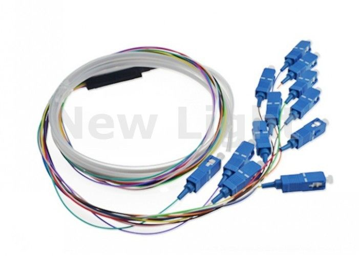 SC UPC Fiber Optic Jumper Cables 12 Core Fiber Pigail 0.9mm For Data Transmission Networks