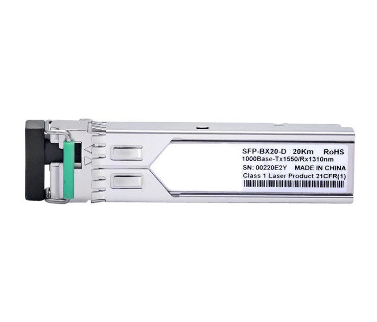 1.25 G Single Mode Fiber Optic Transceiver Module 20KM Distance Low Power Dissipation