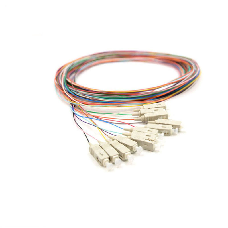12 Colors Fiber Optic Pigtail Multi - Mode For Data Communications
