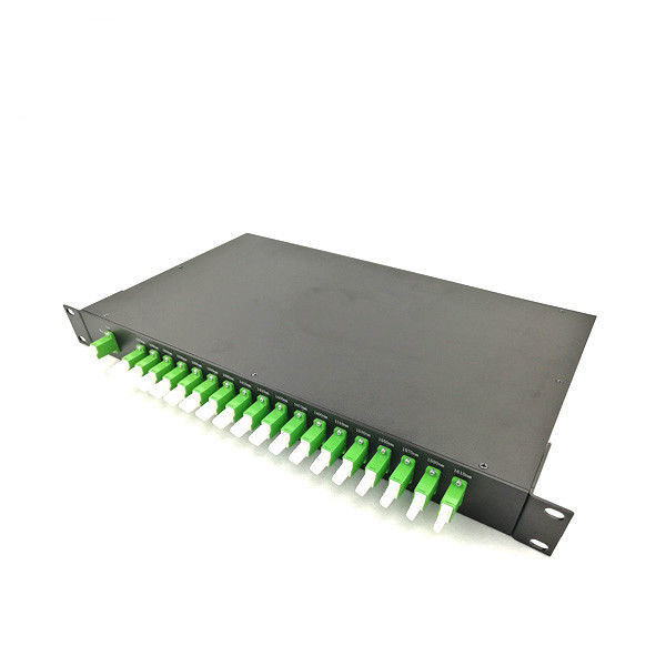 19'' Rack Mount Type Fiber Optic Termination Box 18 Channels CWDM Mux And Demux With E2000 APC