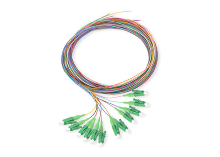 LC Connector Single Mode Fiber Optic Pigtail 0.9mm Cable 12 Colors