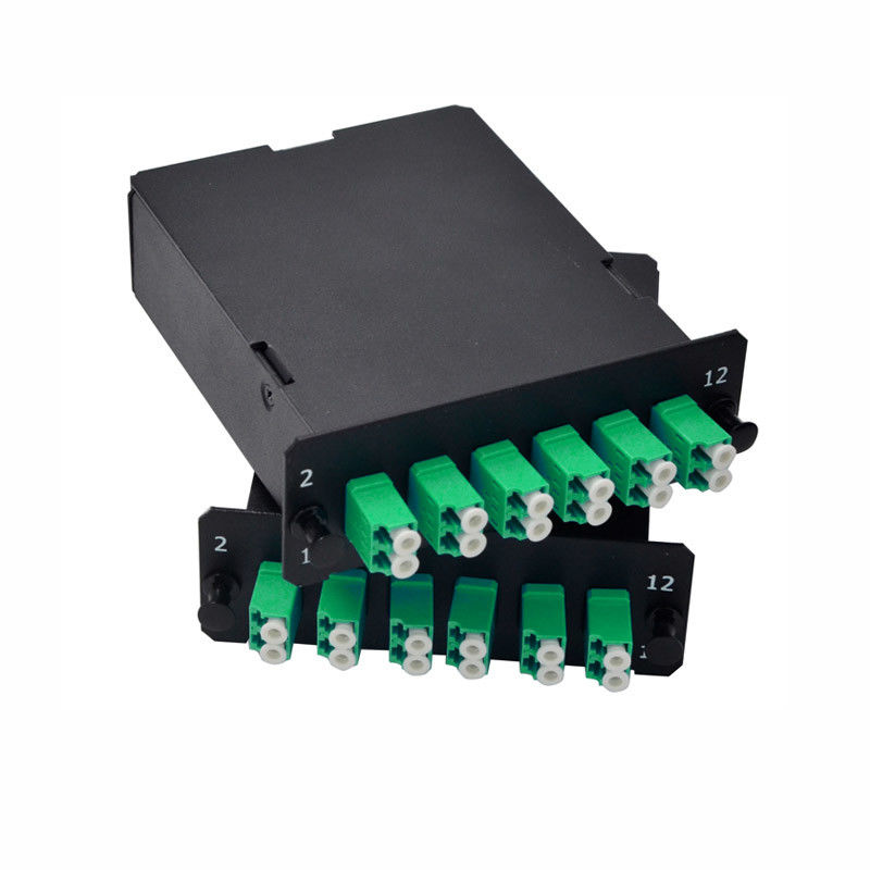 MPO / MTP Cassette Contains Duplex LC Connector For Mpo Patch Panel