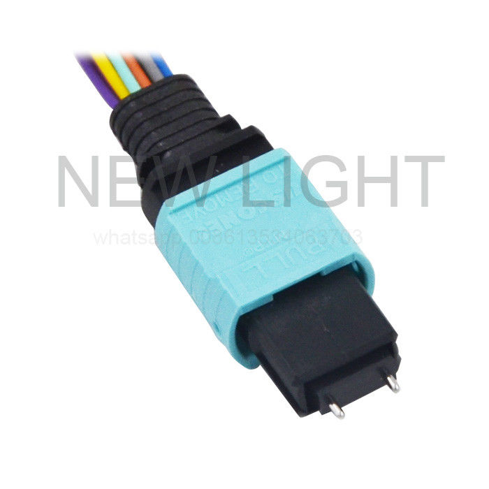 MTP Female To LC MPO MTP Cable 8 - STRAND OM3 50µM PLENUM 18'' 2mm Breakout