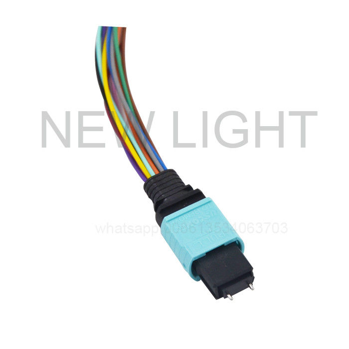 OEM MPO MTP Cable OM3 Straight 10Gb , Multimode 50/125 Fiber Optic Patch Cable