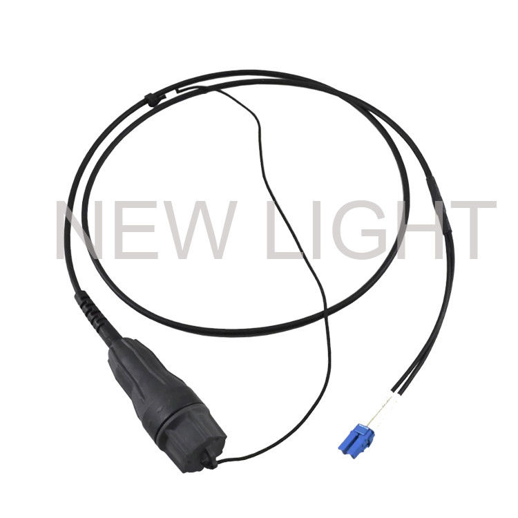 SM / MM Outdoor Optical Fiber Patch Cord FULLAXS Connector Corrosion Resistant