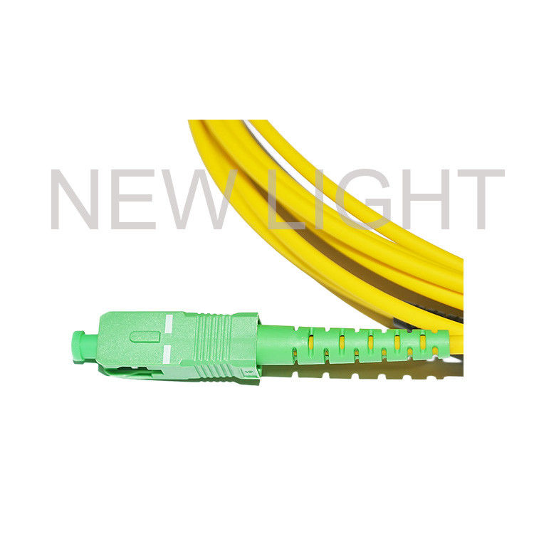 Waterproof Ftta Sc Apc Fiber Patch Cord Ip67 Fiber H Connector Yellow