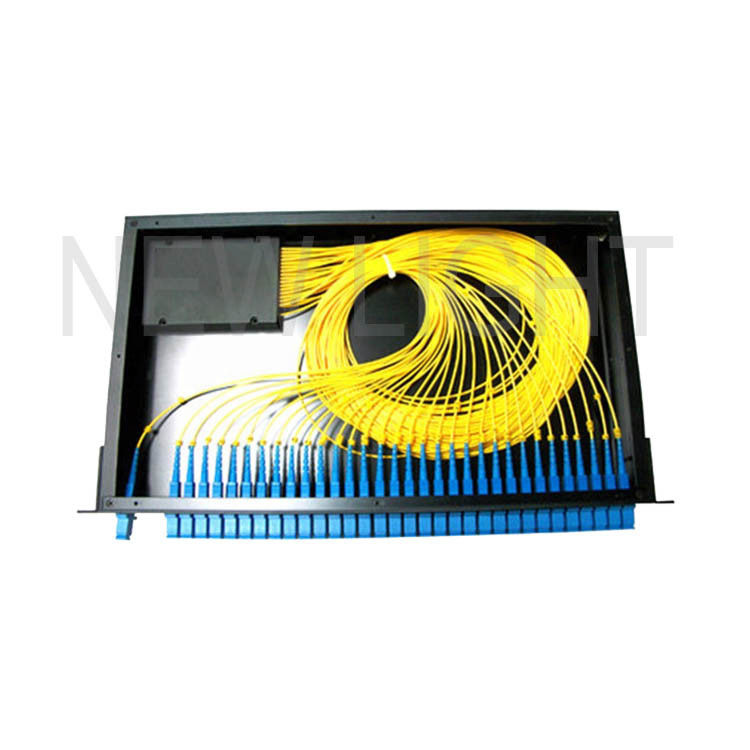 1*8 1*16 1*32 19 Inch Fiber Optic Splitter Types / Rack Mount Fiber Splitter Box